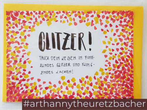 Letters of Honey: Glitzer!